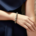 9-10mm Tahitian South Sea Pearl Bracelet - AAA Quality - Model Image