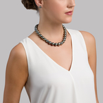 12-14mm Tahitian South Sea Pearl Necklace - AAAA Quality - Model Image