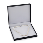 9-10mm White Freshwater Pearl Necklace - AAA Quality - Third Image