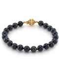 6.5-7.0mm Akoya Black Pearl Bracelet- Choose Your Quality - Secondary Image