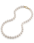 9.0-9.5mm Hanadama Akoya White Pearl Necklace - Secondary Image