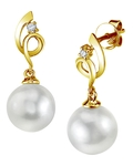 South Sea Pearl & Diamond Symphony Earrings - Third Image