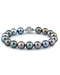 10-11mm Tahitian South Sea Multicolor Pearl Bracelet