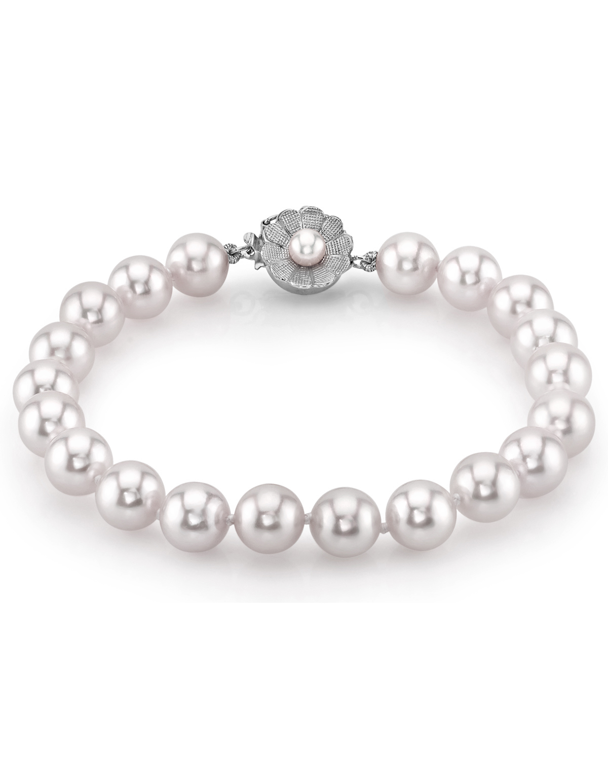 7.0-7.5mm Akoya White Pearl Bracelet- Choose Your Quality