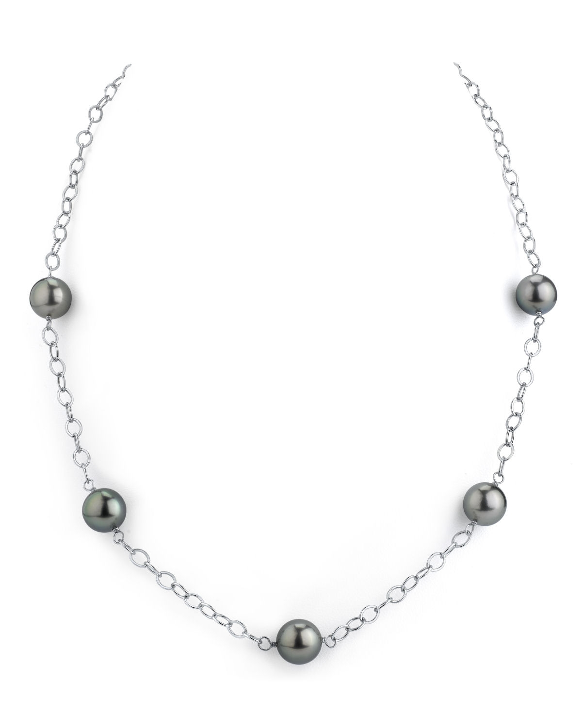 Tahitian South Sea Round Pearl Tincup Necklace